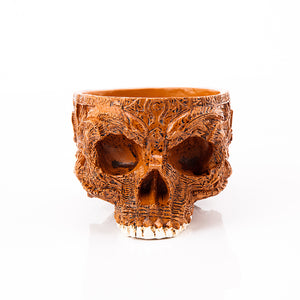 Hand Carved Human Skull Bowl