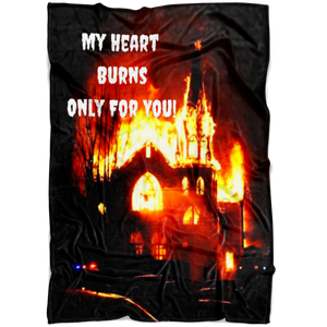 My Heart Burns Only For You - Fleece Blanket
