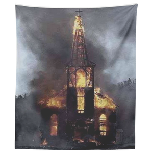 Church Burning Tapestry