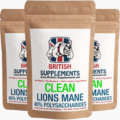 Clean Genuine Lions Mane Extract 9,660mg (193.2mg Polysaccharides)