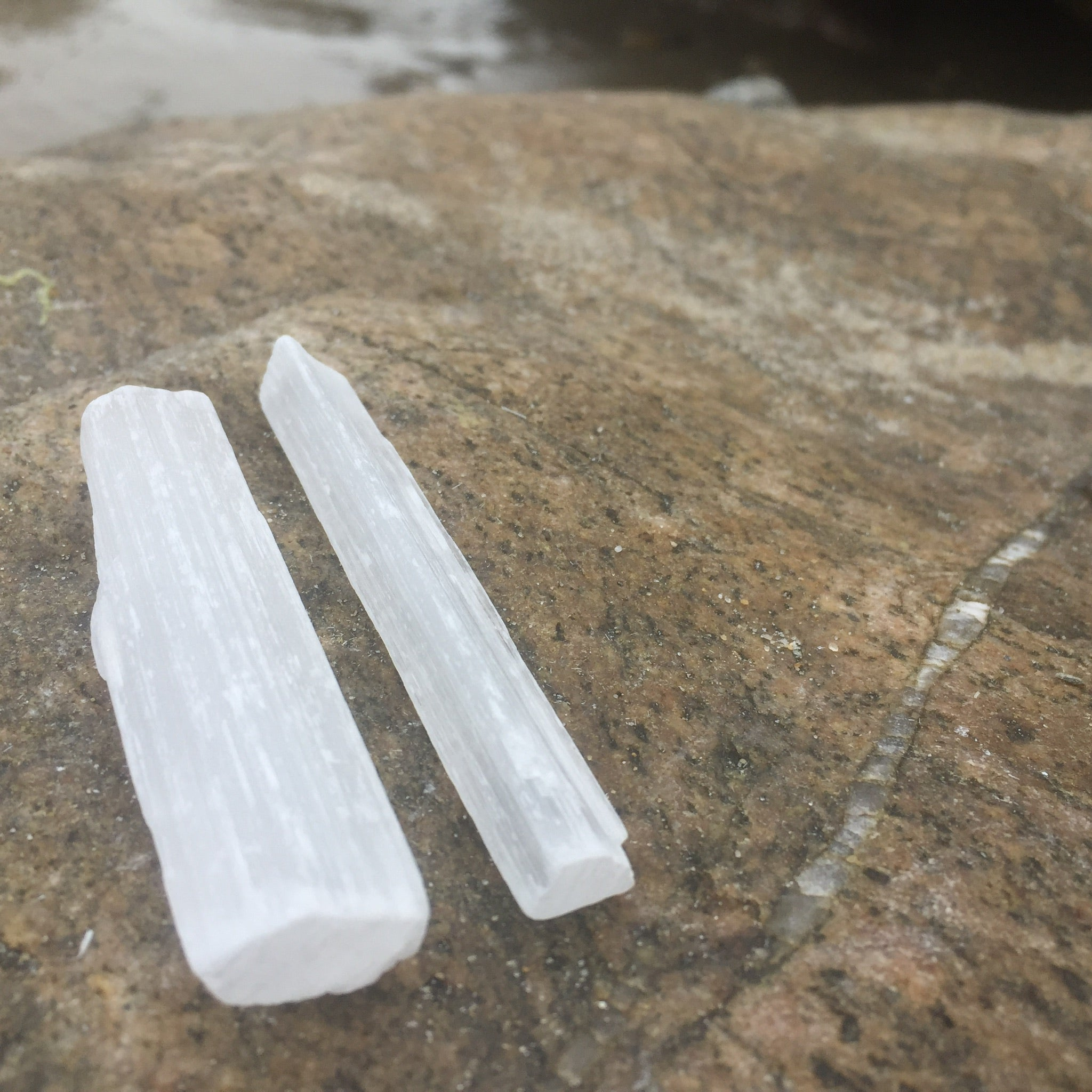 Selenite Crystal Wand Healing Set for Energy Healing Work & Spiritual Connection