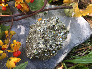Stunning Peruvian Pyrite Cluster for Manifesting Your Highest Vision