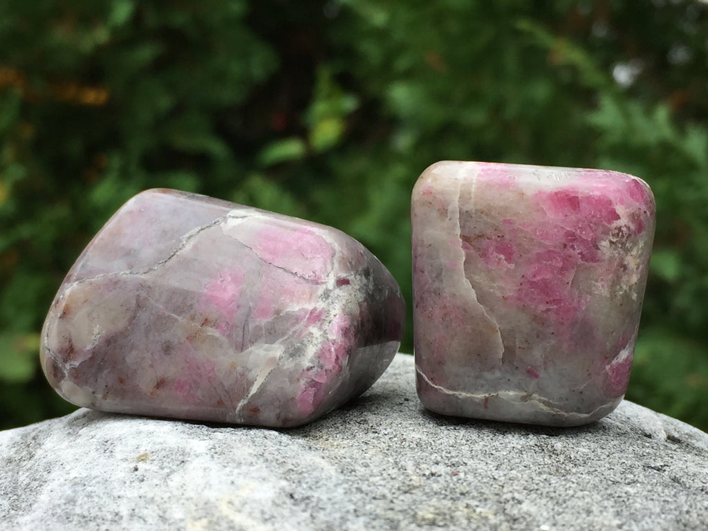 Polished Ruby In Quartz Crystal Healing Set for Vitality & Cellular Regeneration