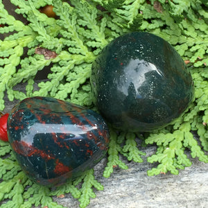Bloodstone Healing Set for Purification, Protection, Spiritual Resilience and Divine Action