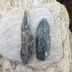 Raw Green Kyanite Healing Set for Healing Your Heart and Connecting to Nature Spirits
