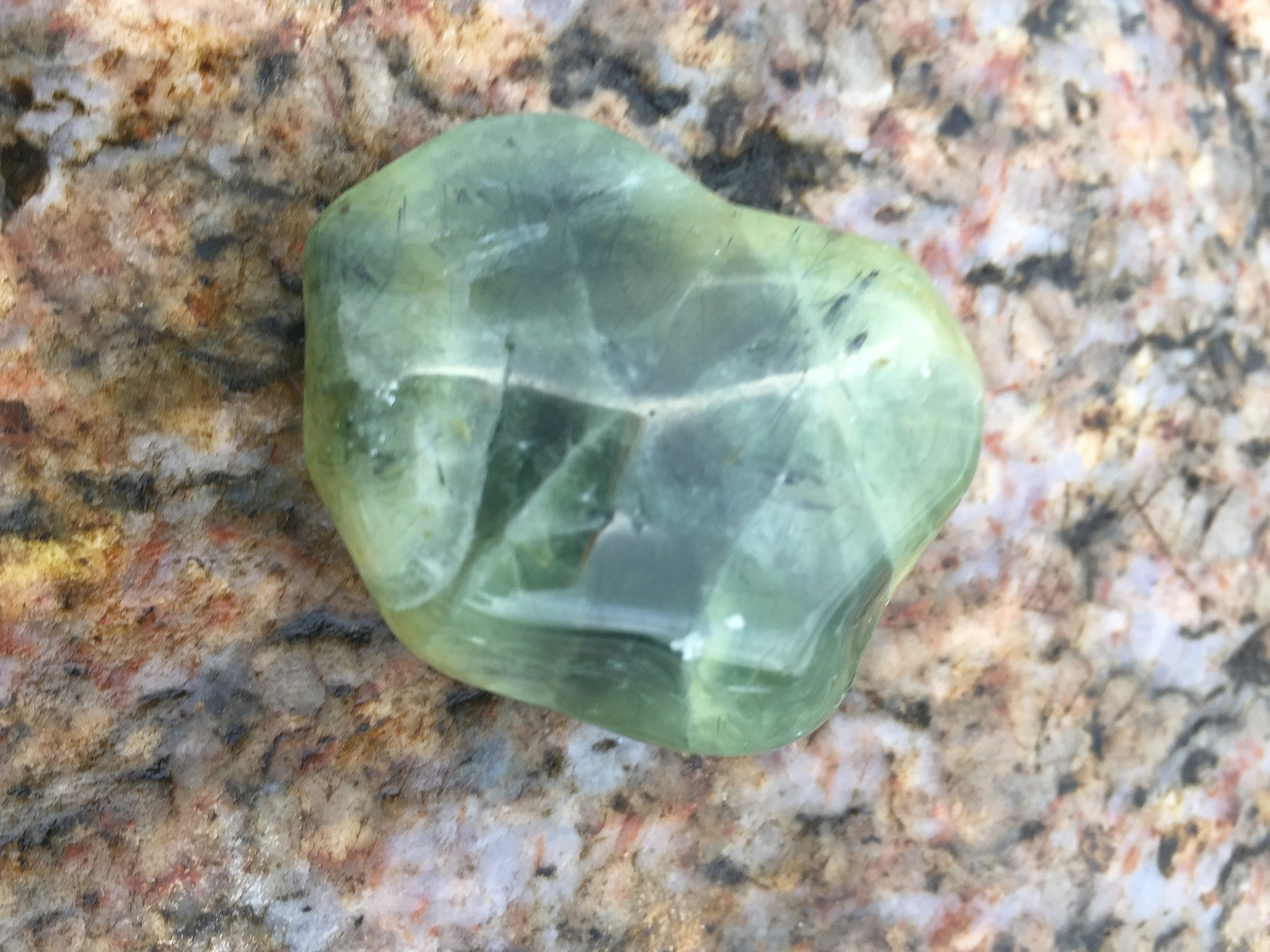 Prehnite with Epidote Inclusions for Healing the Heart and Connecting to Elemental Spirit Guides