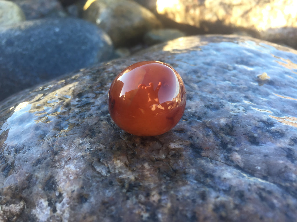 Carnelian Crystal Ball for Stimulating Creativity, Strengthening Physical Body & Manifestation