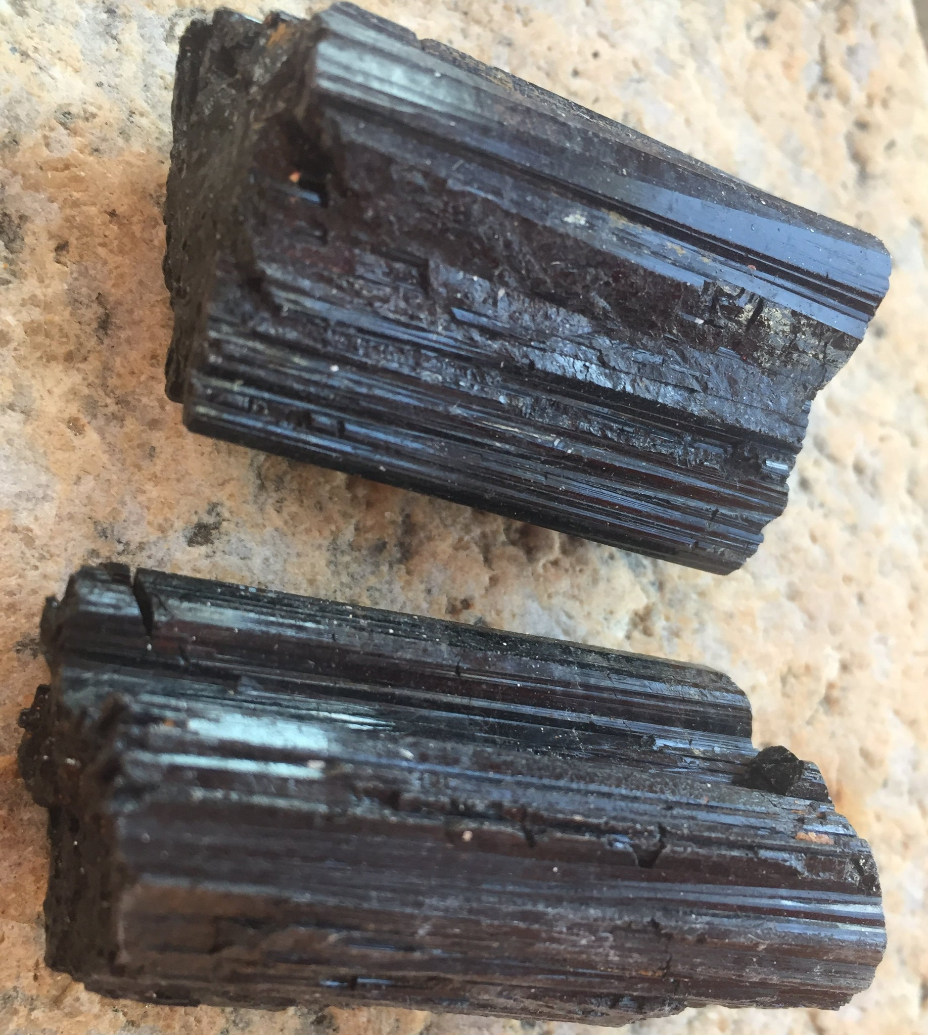 Raw Brazilian Black Tourmaline Crystal Healing Set for Transmutation of Lower Vibrations & Reestablishing Harmony in Body, Mind & Spirit