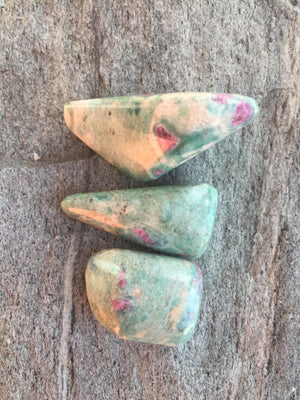 Ruby in Zoisite Crystal Healing Set for Awakening True Self and Heart-Centered Awareness