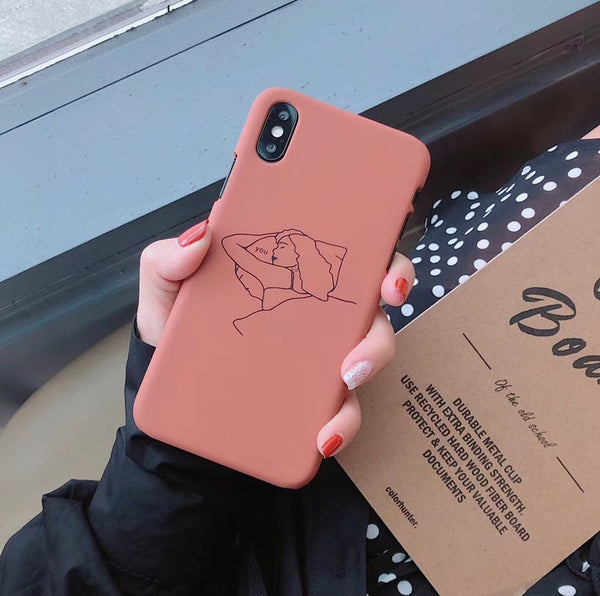 Girl Line Art Case