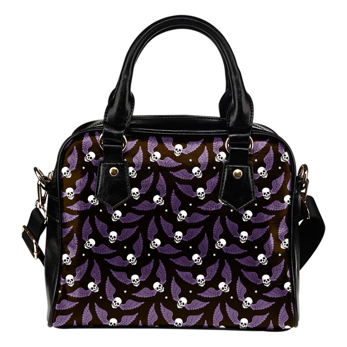 Flying Skulls Shoulder Handbag