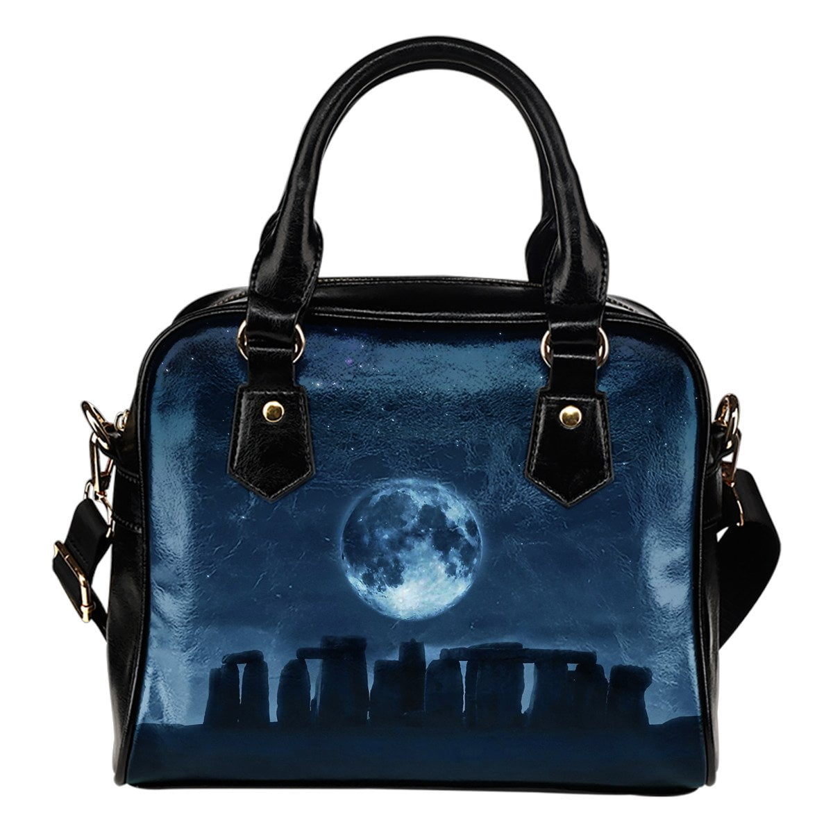Stonehenge Moon Shoulder Handbag