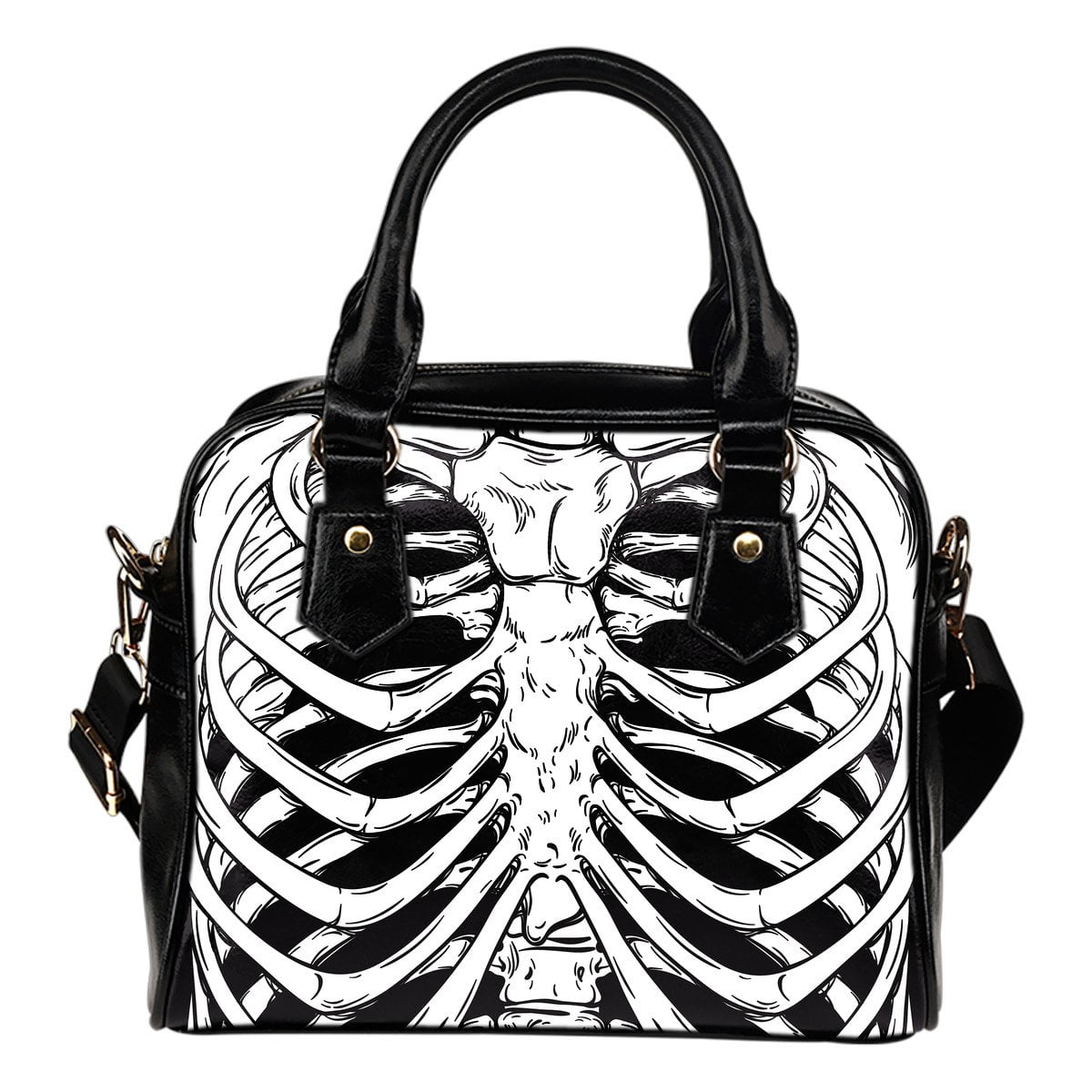 Rib Cage Shoulder Handbag