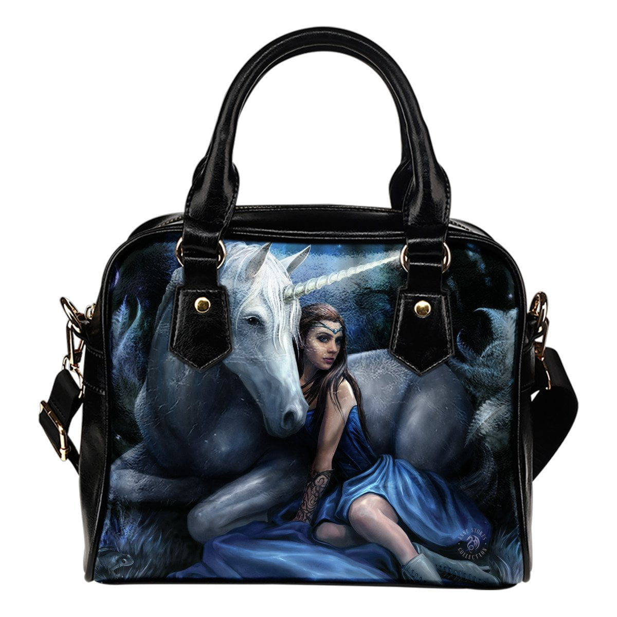 Blue Moon Shoulder Handbag