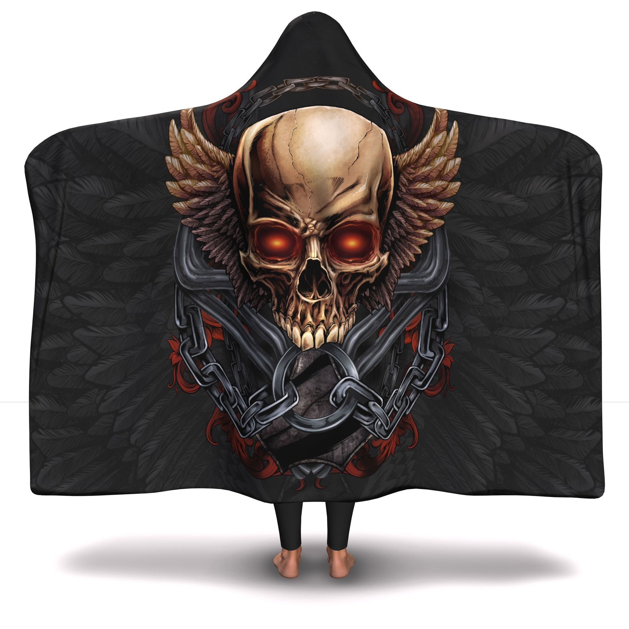 Skull & Wings Hooded Blanket