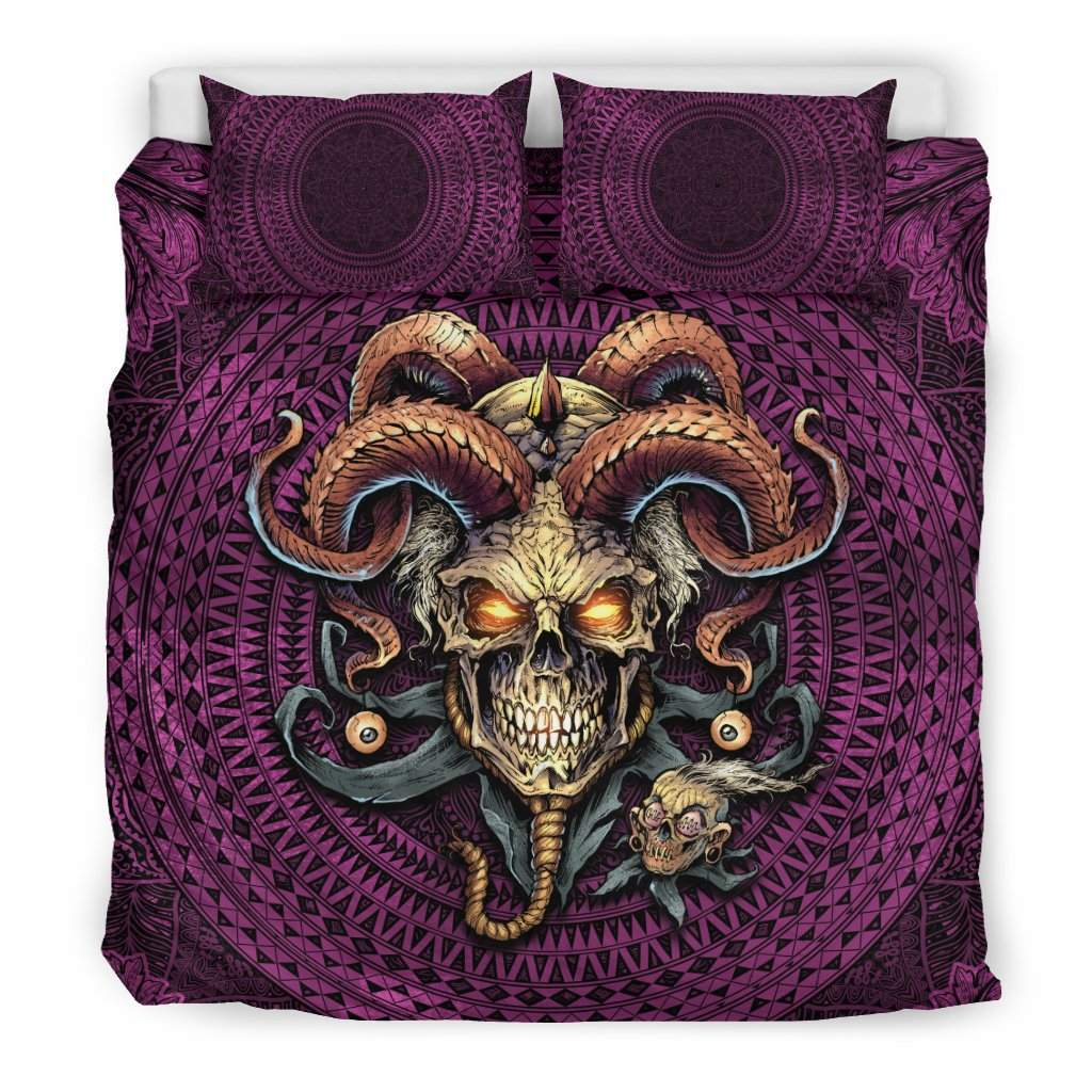 Jester Skull Bedding Set