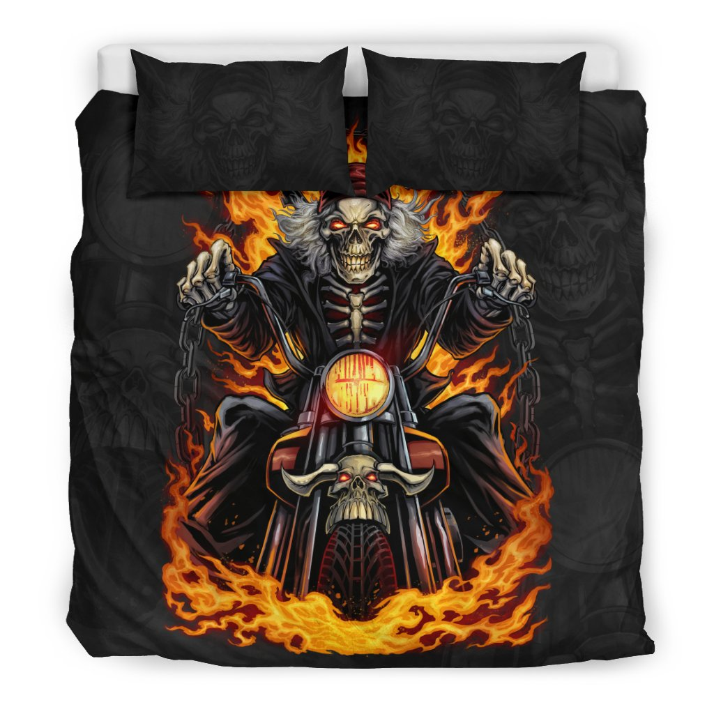 Skeleton Rider Bedding Set