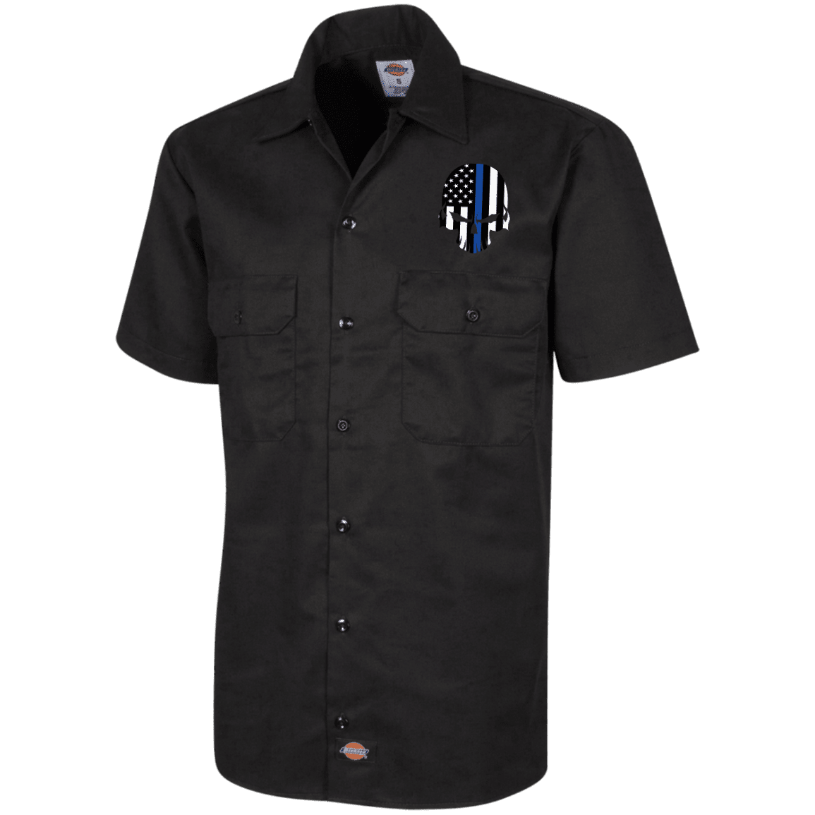 Thin Blue Line Bad Skull Dickies Workshirt