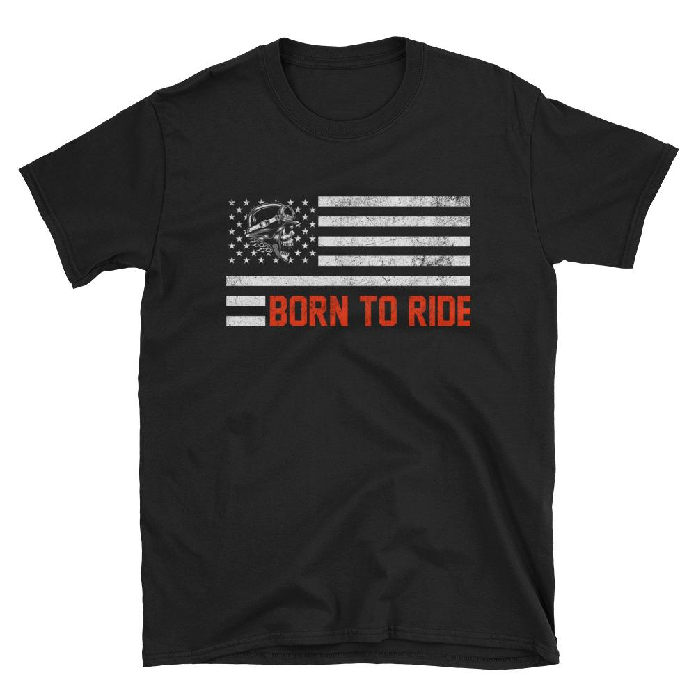 Born To Ride USA Flag T-Shirt