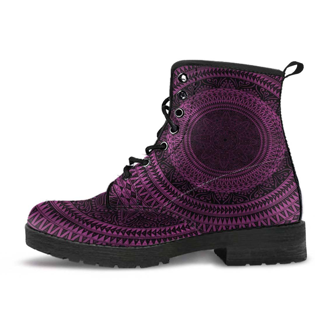 Purple Mandala Boots