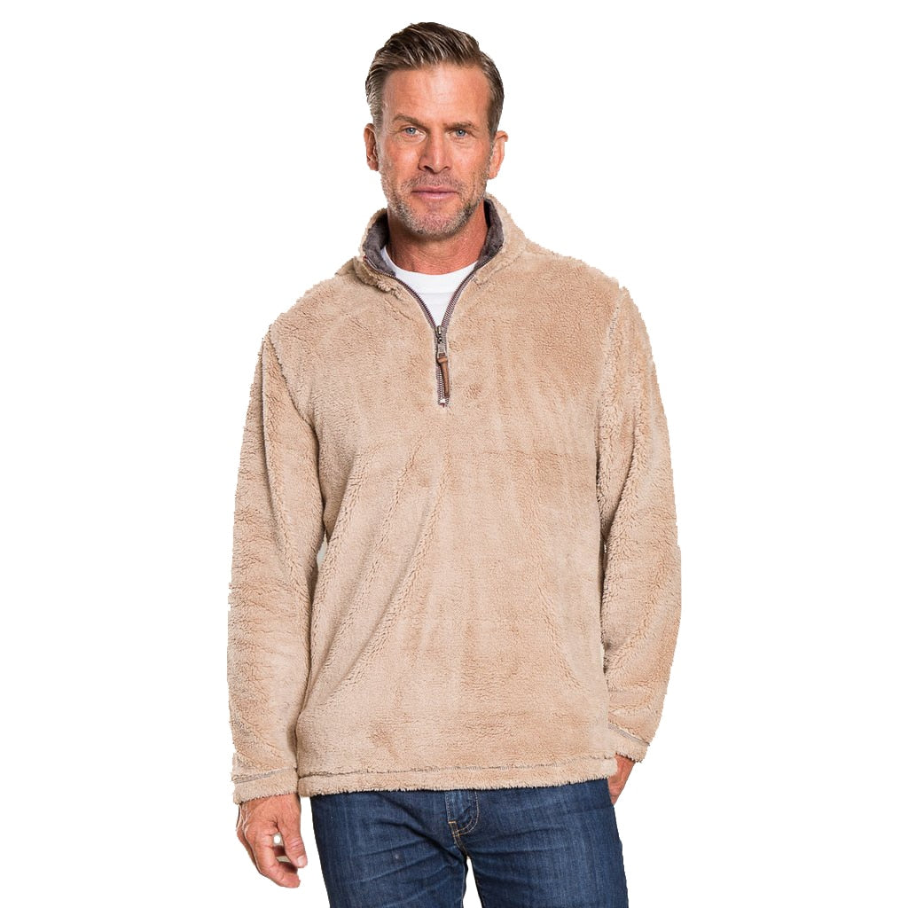 True Grit Men's Pebble Pile 1/2 Zip Pullover