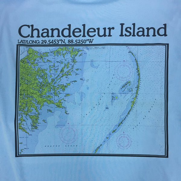 S.F. Alman Chandeleur Island Map Performance L/S Tee