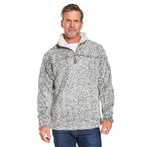 True Grit Men's Frosty Tipped 1/4 Zip Pullover