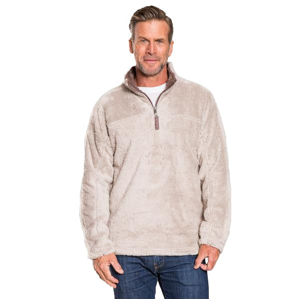 True Grit Men's Double Plush 1/2 Zip Pullover