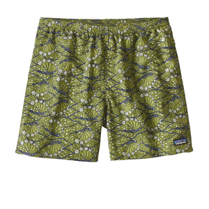 "Patagonia Men's Baggies Hexy Fish Sprouted Green 5"" short"