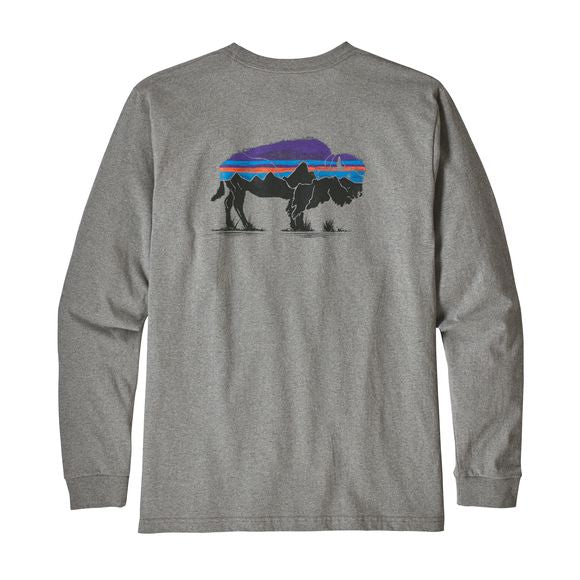 Patagonia Long Sleeve Bison t-shirt