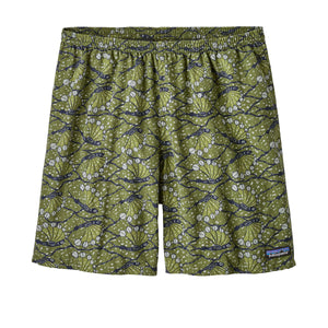 Patagonia Men's Baggies Long Hexy Fish Sprouted Green short