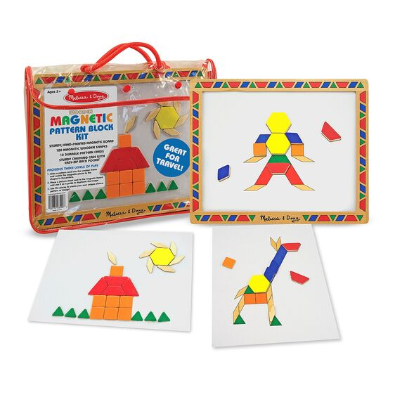 Melissa & Doug Magnetic Pattern Block Set 3Y+