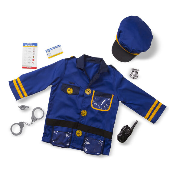 Melissa & Doug - Police Officer Role Play Costume Set 3-6 Years