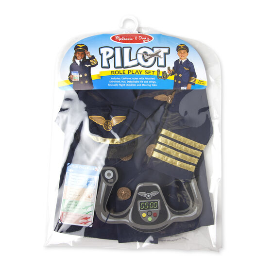 Melissa & Doug - Pilot Role Play Costume Set 3-6 Years
