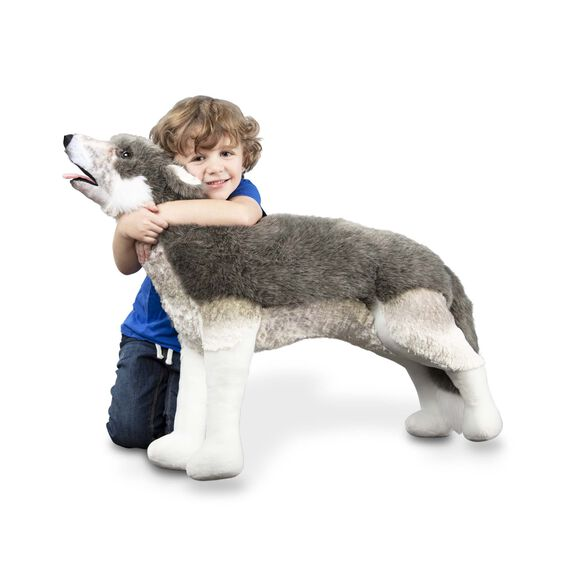 Melissa & Doug - PLUSH GRAY WOLF