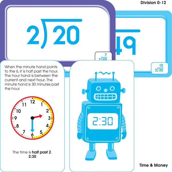 Math Grades 3-4 Flash Cards 4-Pack - BambiniJO