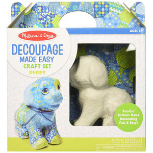Melissa & Doug Decoupage Made Easy Puppy Paper Craft Kit With Stickers - BambiniJO