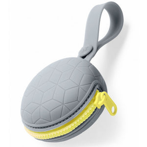 Skip Hop Grab & Go Silicone Pacifier Holder case - Grey - BambiniJO