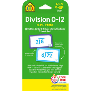 Division 0-12 - Flash Cards - BambiniJO