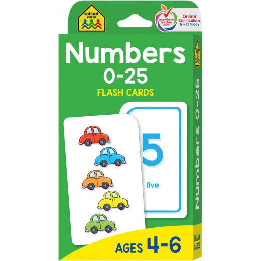 Numbers 0-25 Flash Cards - BambiniJO