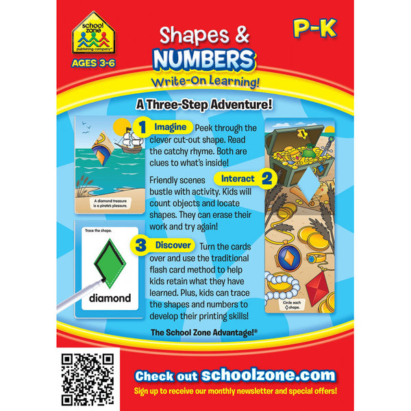 Shapes & Numbers - Write-On, Wipe-Clean Flash Cards - BambiniJO