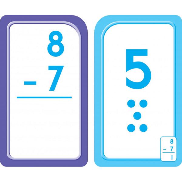 Subtraction 0-12 - Flash Cards - BambiniJO
