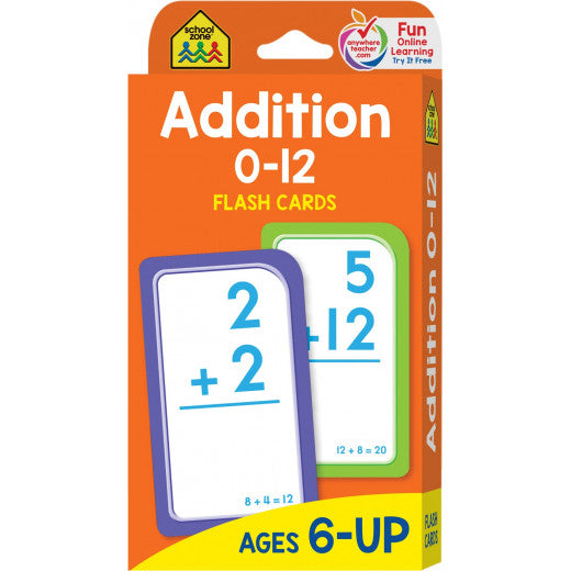 Addition 0-12 - Flash Cards - BambiniJO