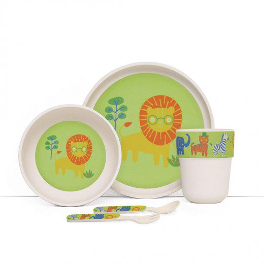 Bamboo Meal Set with Cutlery - Wild Thing - BambiniJO