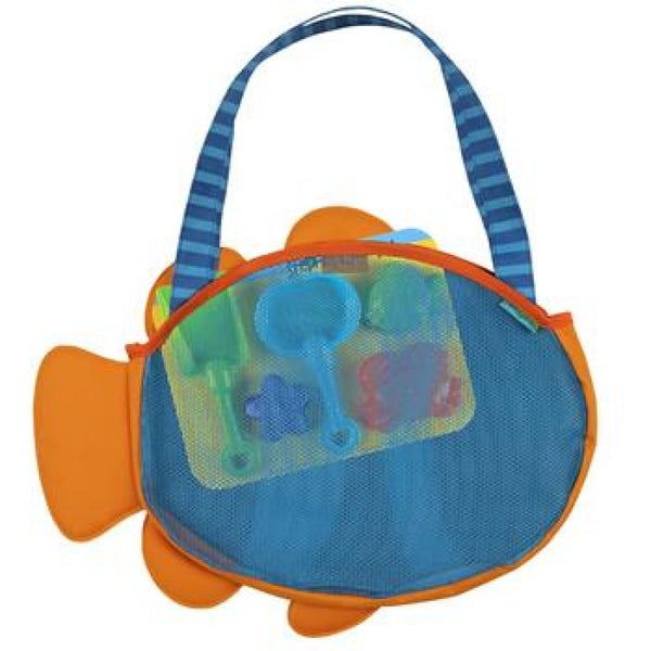 Stephen Joseph - Beach Totes with Sand Toy Play Set - CLOWN FISH