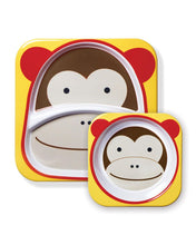 Load image into Gallery viewer, Zoo Plate & Bowl Set Marshall - Monkey - BambiniJO