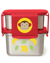 Load image into Gallery viewer, Zoo Stainless Steel Lunch Kit - Monkey - BambiniJO