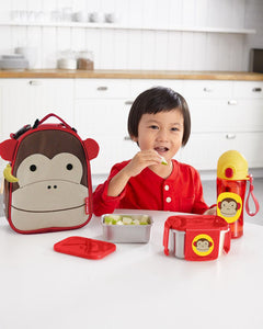 Zoo Stainless Steel Lunch Kit - Monkey - BambiniJO