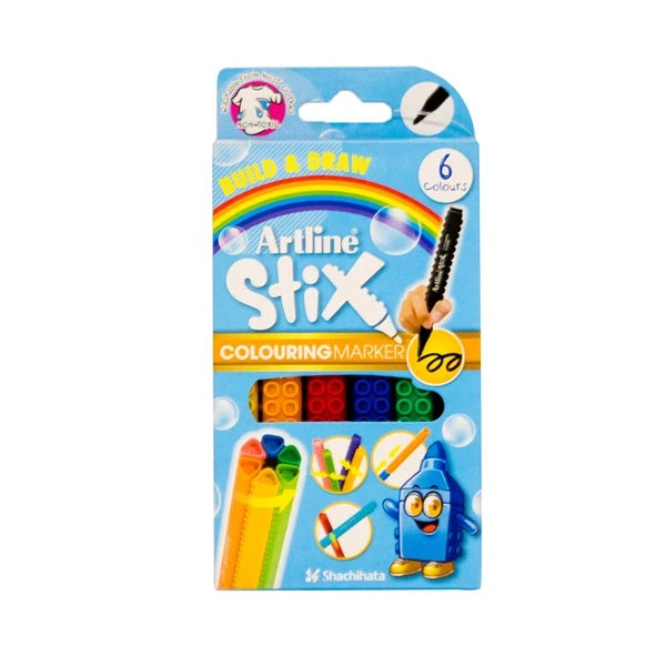 ARTLINE COLORING MARKER SET 6 COLORS - BambiniJO