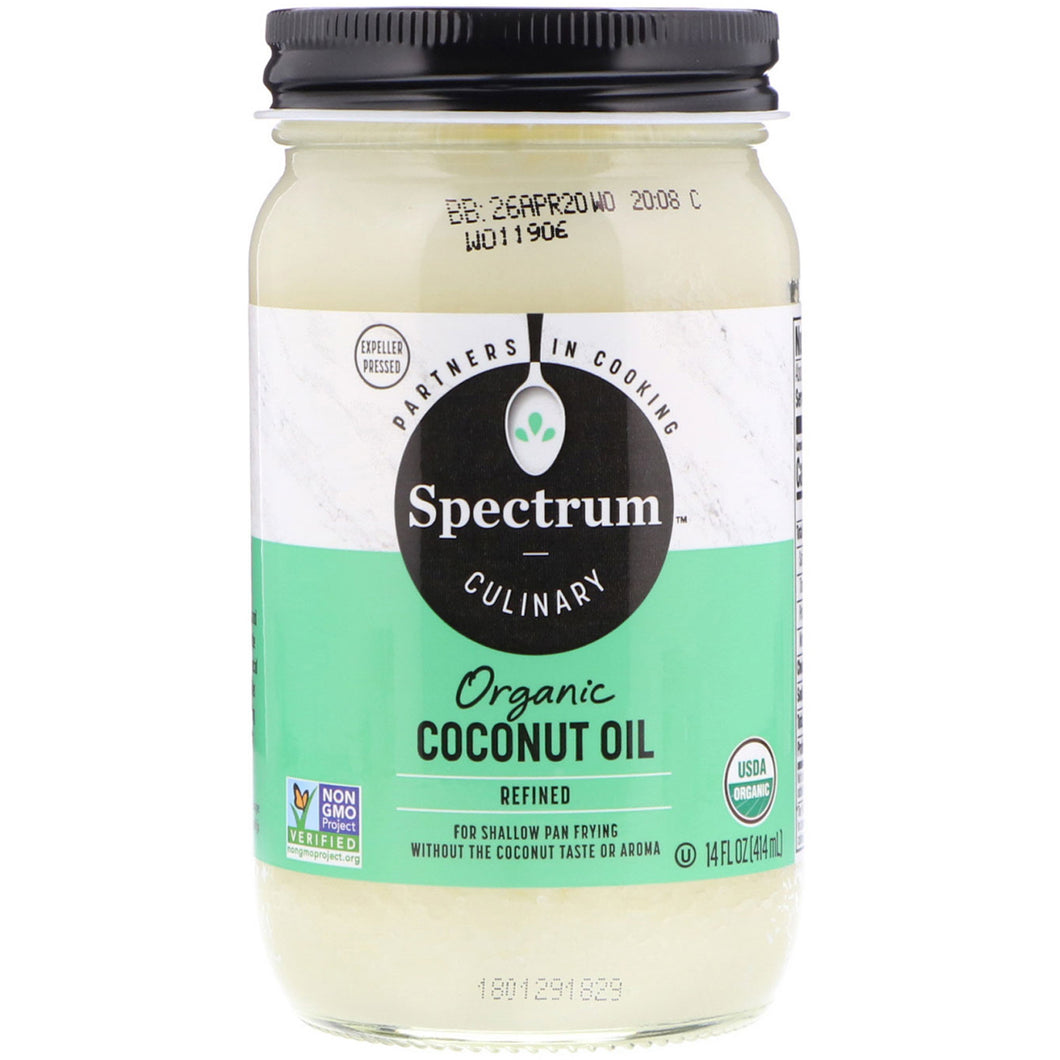 ORGANIC REFINED COCONUT OIL (414ML) for cooking, hair & skin care